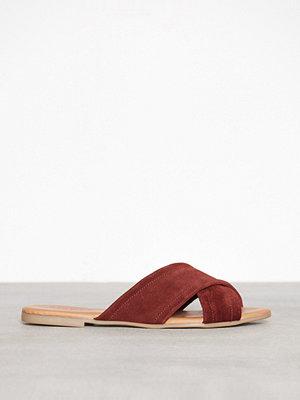 Sandaler & sandaletter - Pieces Psmarnie Suede Sandal Mörkorange