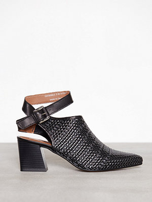 Topshop Nett Woven Pointed Shoes Black