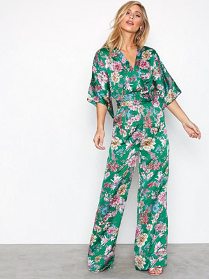 NLY Trend Kimono Jumpsuit Grön Mönstrad