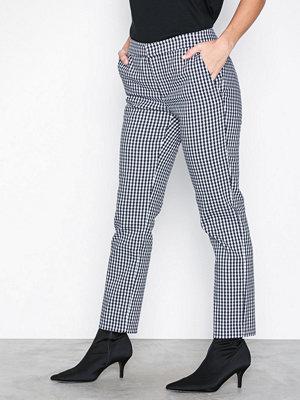 Lauren Ralph Lauren rutiga byxor Lycette Skinny Pant Black/White