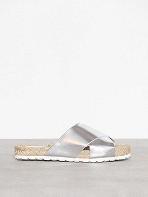 Sandaler & sandaletter - Pieces Psmally Leather Sandal Silver