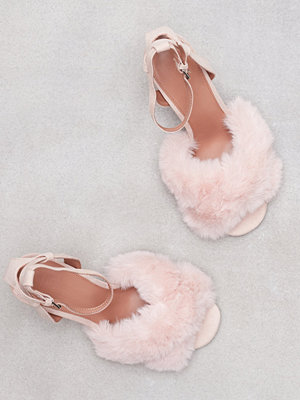 Pumps & klackskor - Topshop Faux Fur Heeled Sandals Light Pink