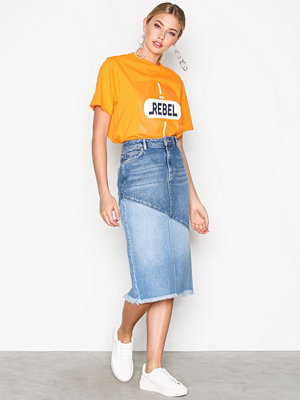 NORR Aven Denim Skirt Ljus Blå