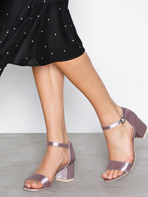 NLY Shoes Low Block Heel Sandal Mauve