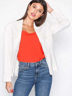 Topshop Strong Shoulder Jacket Ivory