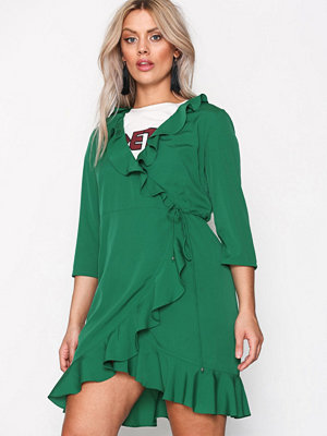Vero Moda Vmhenna 3/4 Wrap Dress Noos Grön
