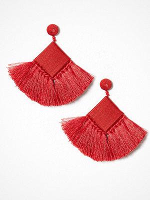 Pieces örhängen Pcfreja Earrings D2D Mörk Röd