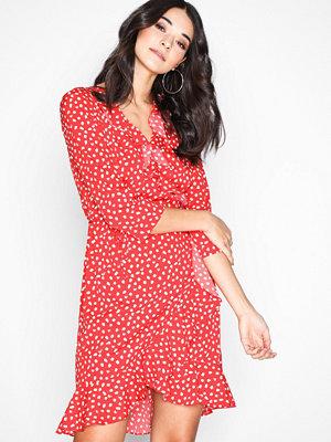 Vero Moda Vmhenna 3/4 Wrap Dress Noos Röd