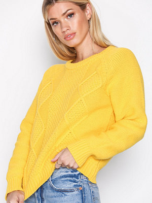 Selected Femme Sfkasia Ls Knit O-Neck Ex Gul
