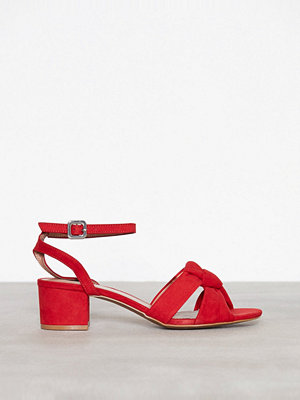 Topshop Two Part Sandals Red