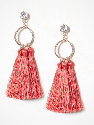 River Island örhängen Triple Tassel Drops Light Pink