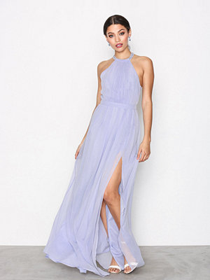 NLY Eve Halterneck Beaded Gown Ljus Blå