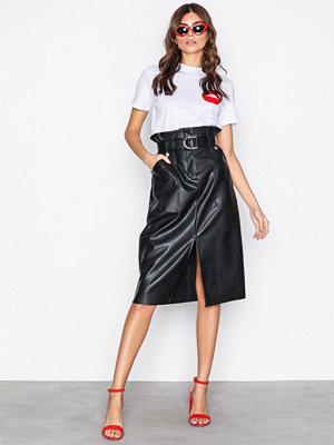 River Island PU Paperbag Skirt Black