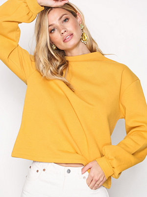 NLY Trend Half Polo Sweat Mustard