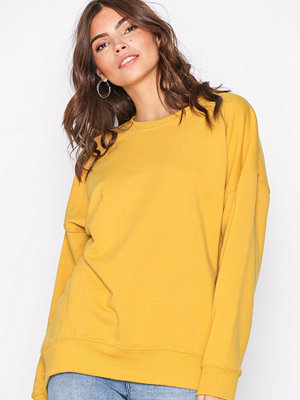 New Look Balloon Sleeve Oversized Sweatshirt Lemon