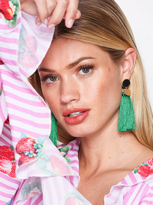 NLY Accessories örhängen Geo Tassel Earrings Grön