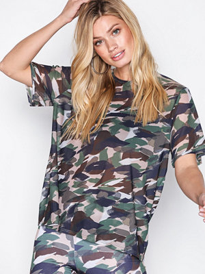 NLY Trend mesh print tee Camouflage