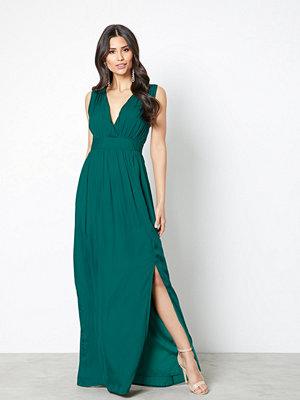 Dry Lake Callie Long Dress Dark Green