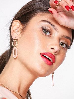 NLY Accessories örhängen Resin Link Earrings Guld/Rosa
