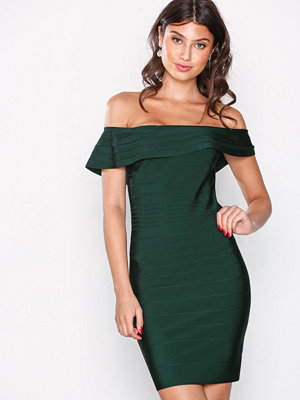 Wow Couture Off Shoulder Bandage Dress Hunter Green