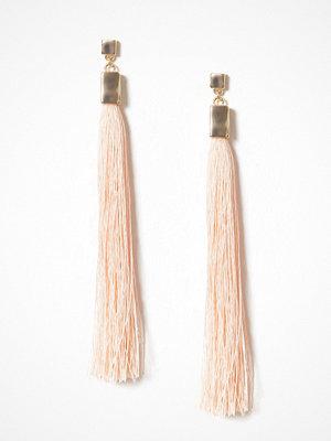 NLY Accessories örhängen Long Tassel Square Earrings Peach