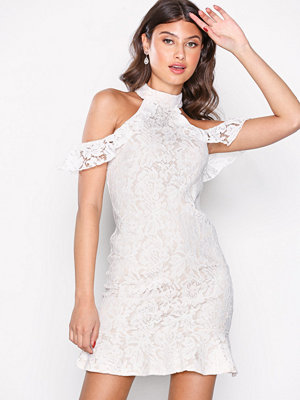 Missguided High Neck Cold Shoulder Bodycon White