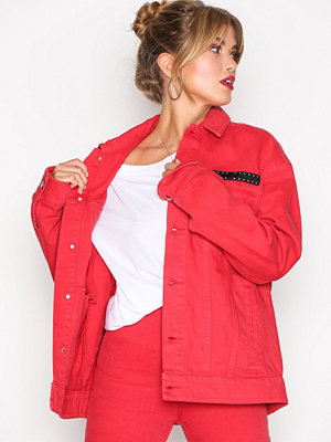 Jeansjackor - Cheap Monday Cred Jacket OD R Red