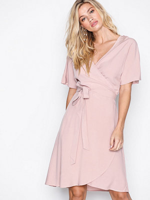 Vila Viliba S/S Wrap Dress Ljus Rosa