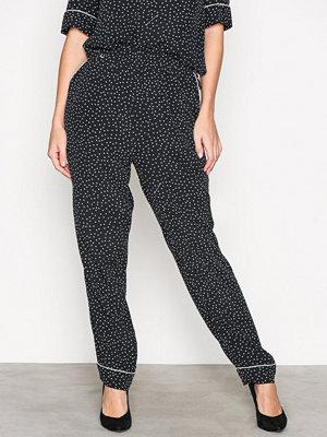 Morris svarta mönstrade byxor Amélie Printed Trousers Black