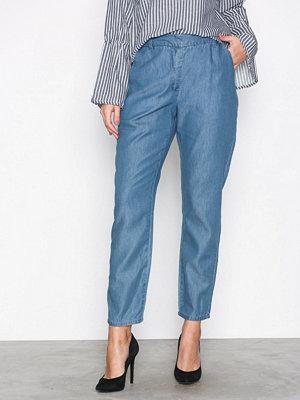 Vila blå byxor Viliama 7/8 Straight Pant