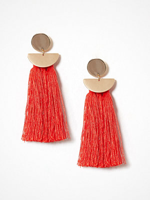 NLY Accessories örhängen Geo Tassel Earrings Röd