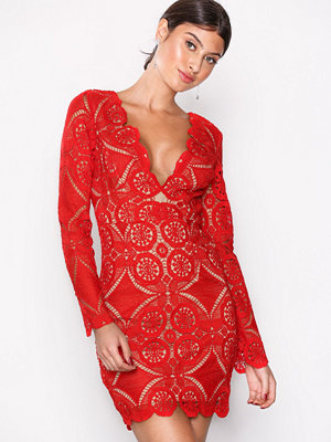 Love Triangle Atomic Mini Dress Red