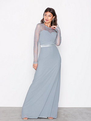 TFNC Cimmaron Maxi Dress Dusty Blue