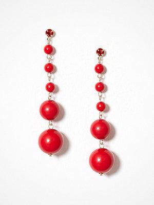 NLY Accessories örhängen Bead Drops Röd