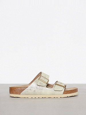 Tofflor - Birkenstock Arizona Washed Guld