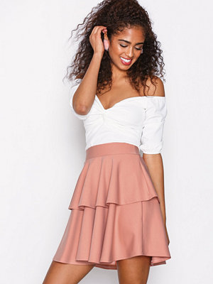NLY One Short Flirty Frill Skirt Rosa