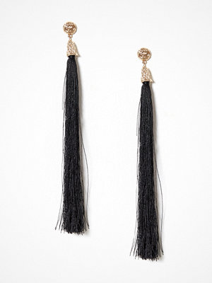 NLY Accessories örhängen Long Tassel Earrings Svart