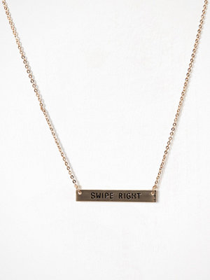 NLY Accessories halsband Swipe Right Necklace Guld