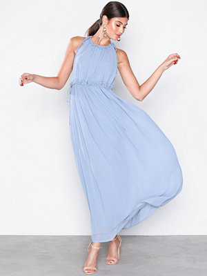 Only onlCEREMONY Halterneck Long Dress W Ljus Blå