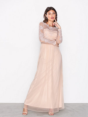 Vila Vigeorgious L/S Maxi Dress/Dc Ljus Rosa