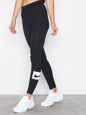 Leggings & tights - Nike NSW Legging Club Swosh Svart
