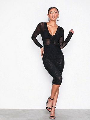 NLY One Daring Mesh Dress Svart