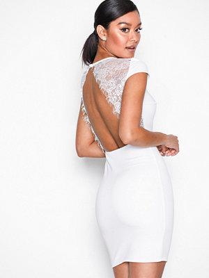 NLY One Lace Back Dress Vit