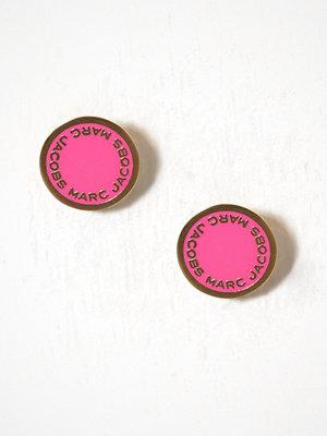 Marc Jacobs örhängen Enamel Logo Disc Studs Pink