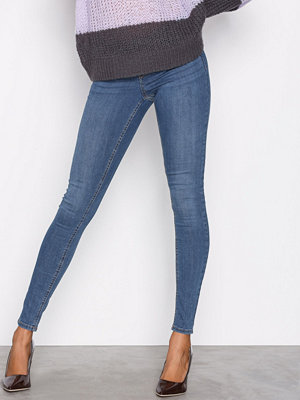 Gina Tricot Skinny low waist superstretch jeans Dark Blue Denim