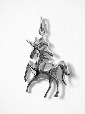 Blue Billie smycke Unicorn Charm Silver