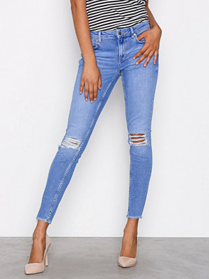 Gina Tricot Kristen Mid Waist jeans Electric Blue
