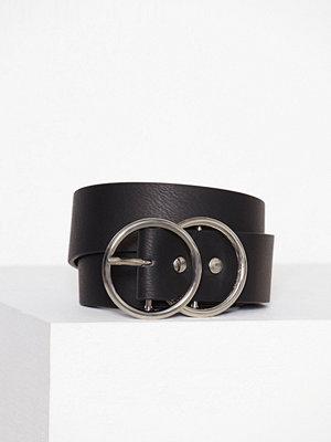 Bälten & skärp - River Island Double Ring Jeans Belt Black