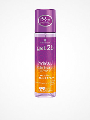 Hårprodukter - Schwarzkopf Got2b Twisted AntiFrizz Spray 200 ml Transparent