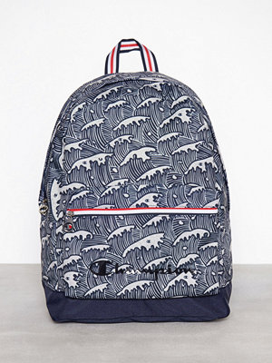 Champion mönstrad ryggsäck Backpack Grey Melange